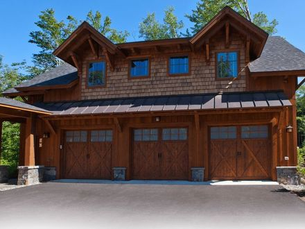 Log Cabin Garage with Living Space Above Log Cabin with Attached Garage