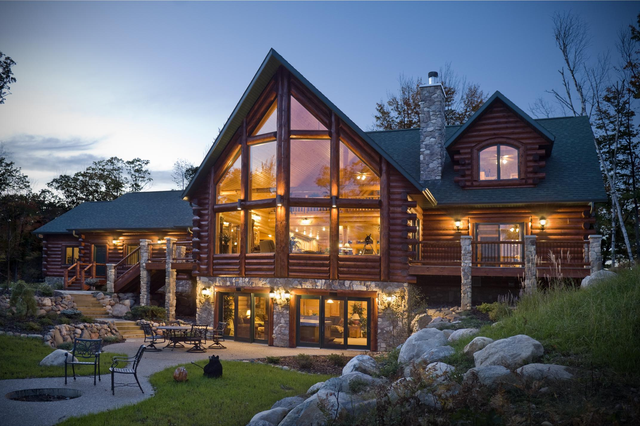 Log Cabin Home House Design Small Log Cabin Homes