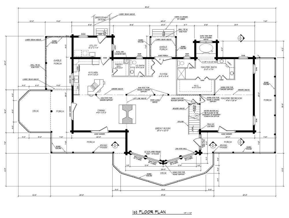 Log home house plans log home plans single story home for One story log house plans
