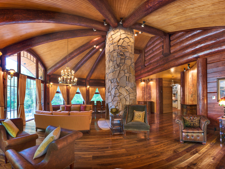 Luxury Log Cabin Homes Interior Biggest Luxury Log Home