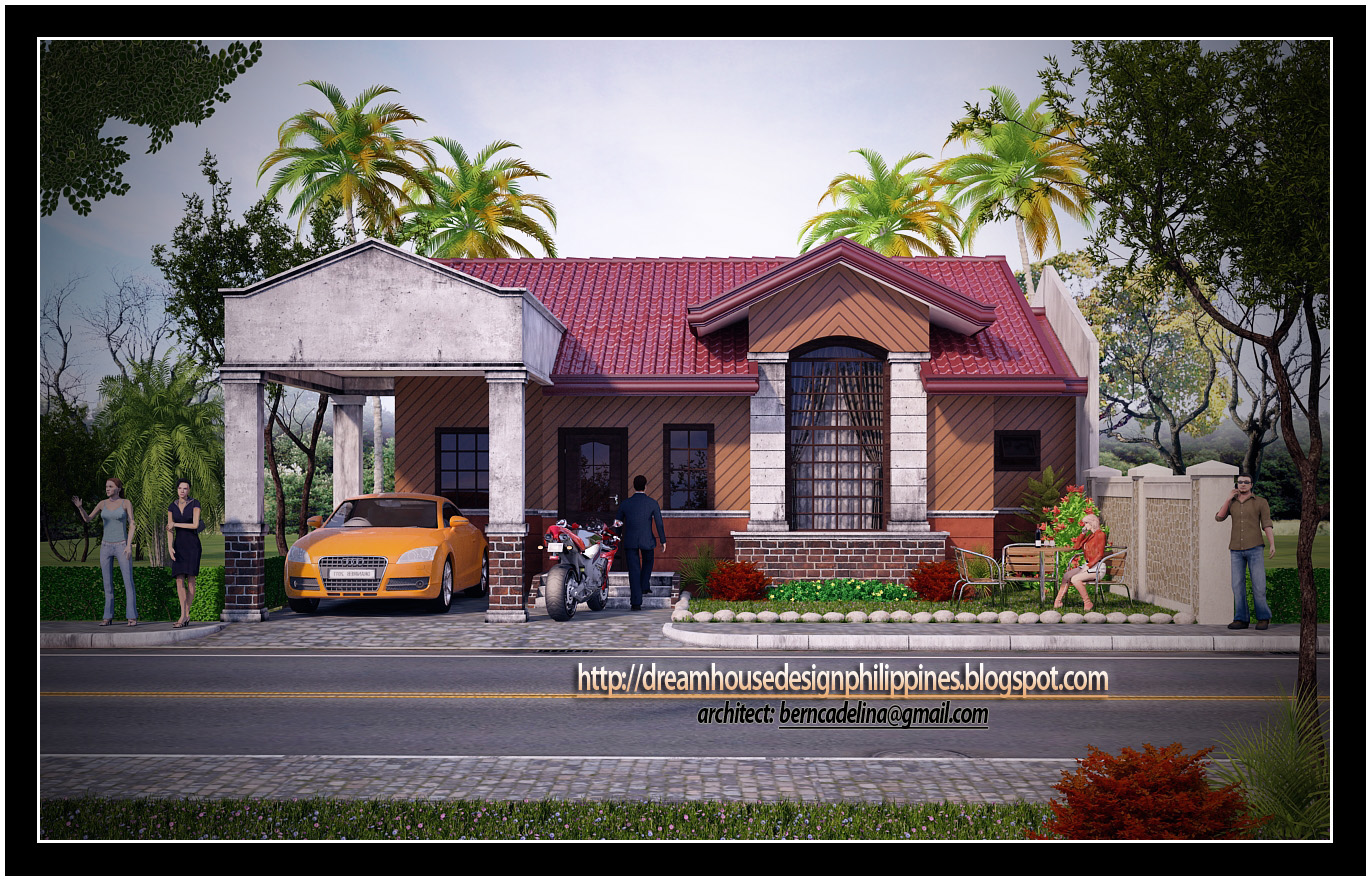 Modern bungalow house designs philippines modern house for Bungalow model houses philippines