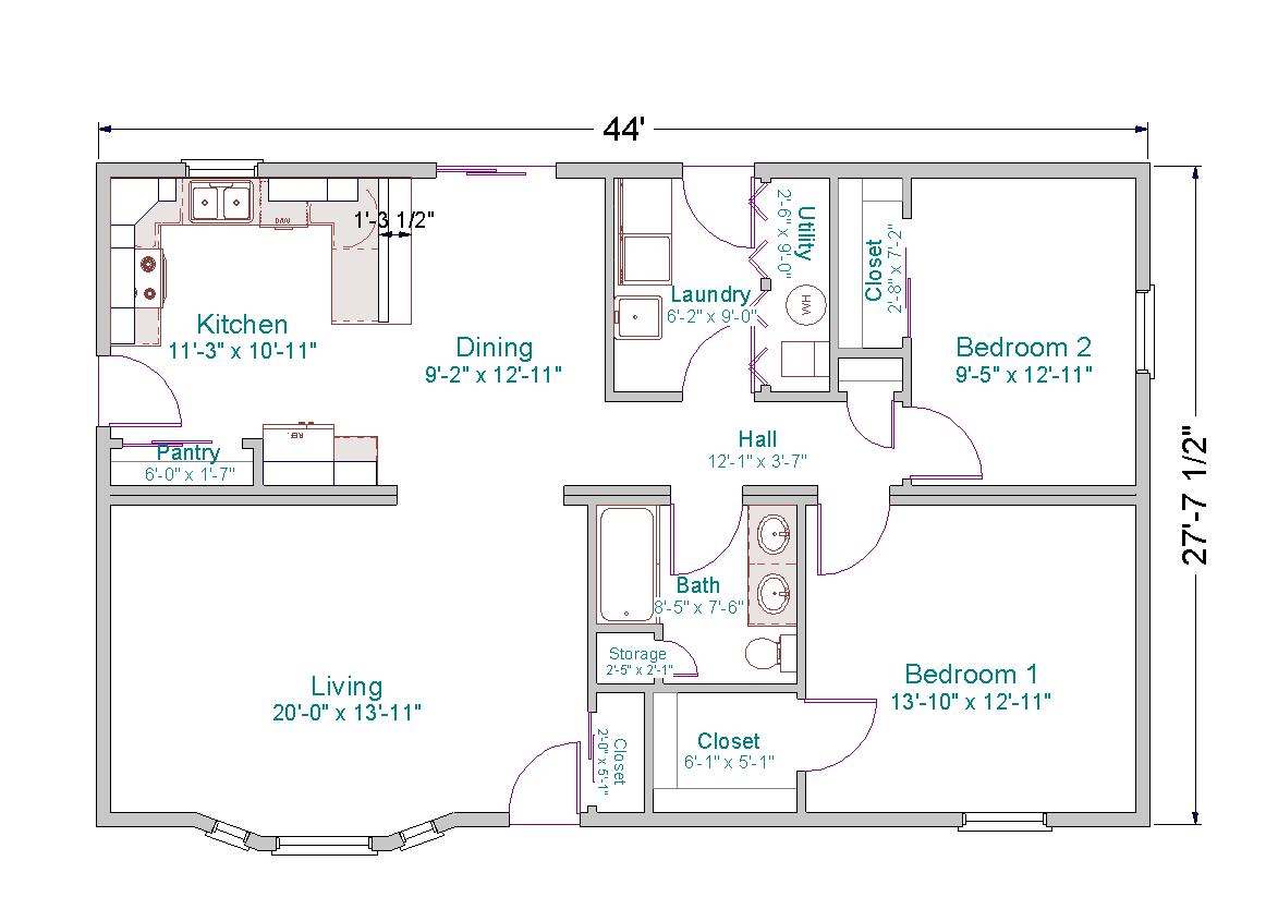 Old ranch house small ranch house floor plans one story for Old ranch house plans