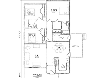 One Story Bungalow House One Story Bungalow Floor Plans