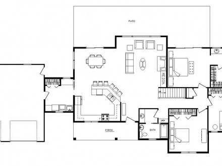 One story log home floor plans one story log home designs for 4 bedroom open floor plans