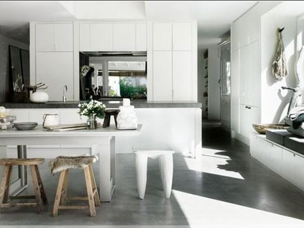 Polished Concrete Floors Pros and Cons Polished Concrete Floors with Kitchen