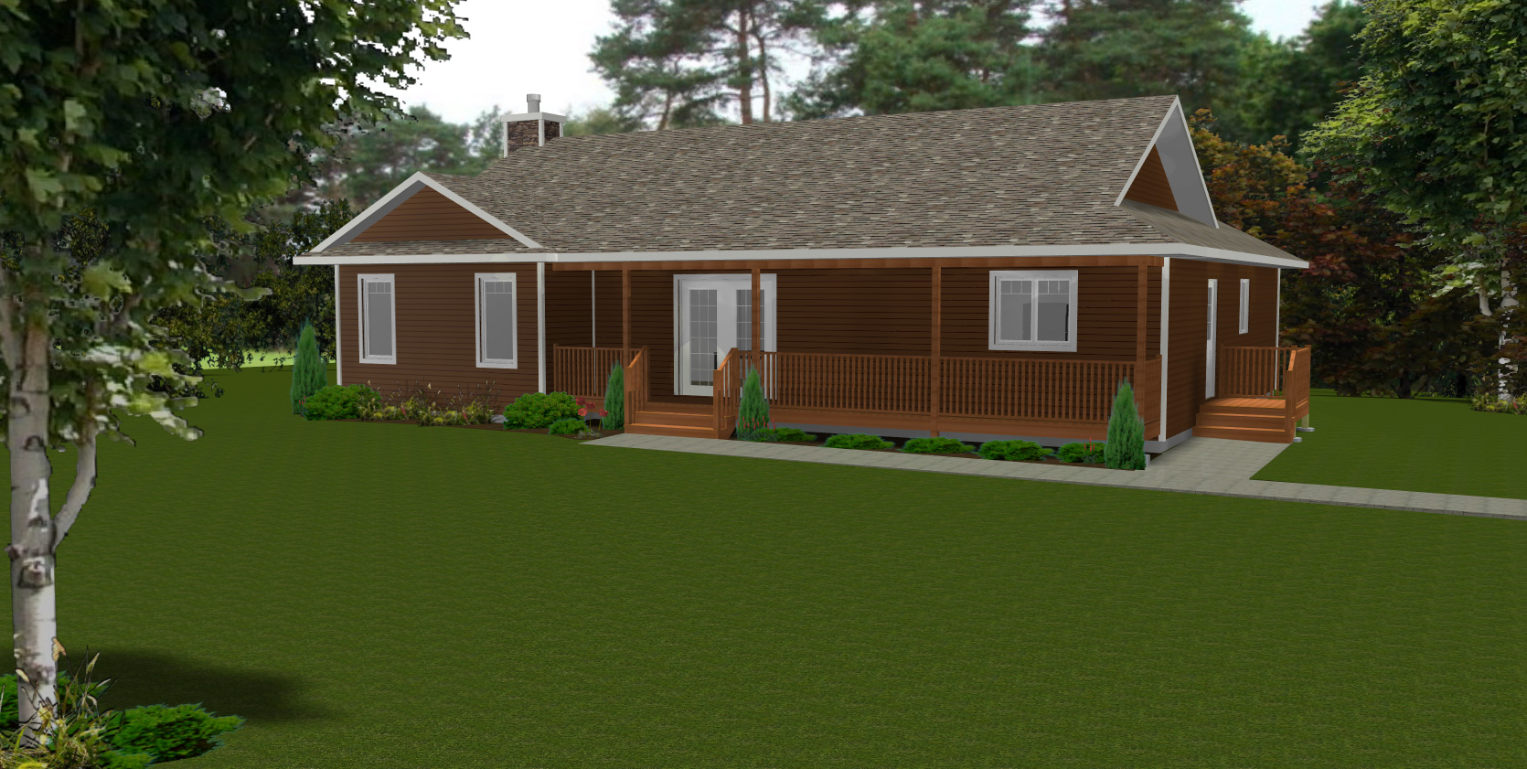 Ranch style bungalow house plan ranch to bungalow for Ranch bungalow house plans