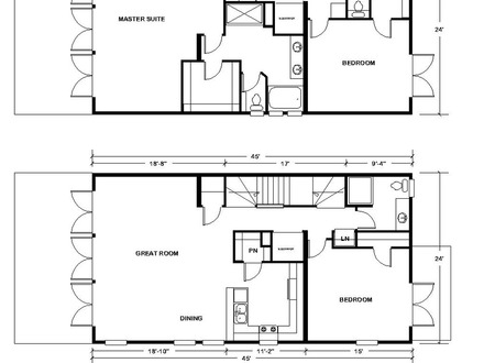 2 story 3 bedroom house plans long lots blueprints 3 for Simple two story floor plans