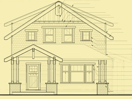 Simple Front Elevation House House Plans Front Elevation