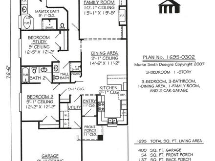 One floor house plans with porches one story house floor for Minimalist narrow house plans