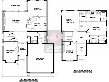 Simple Two-Story House Plans 2 Storey House Design with Floor Plan