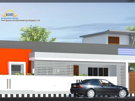 Single Floor House Elevation Front Elevation Indian Home