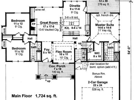 4 bedroom house with pool 4 bedroom house floor plan 1 for One level house plans with bonus room