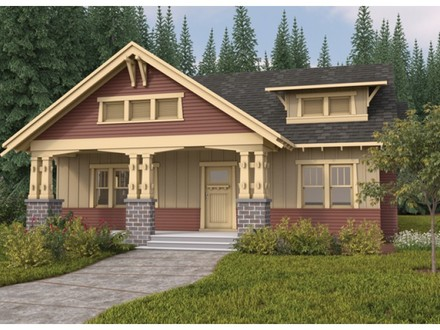 Single Story Bungalow with Porch Single Story Bungalow House Plans