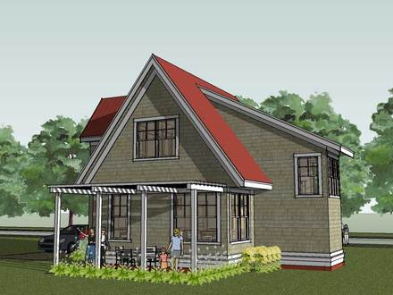 Simple small house floor plans small cottage house plans for Cottage home plans with loft