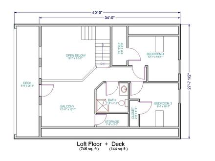 Small house floor plans with loft small cottage house for Small vacation home plans with loft