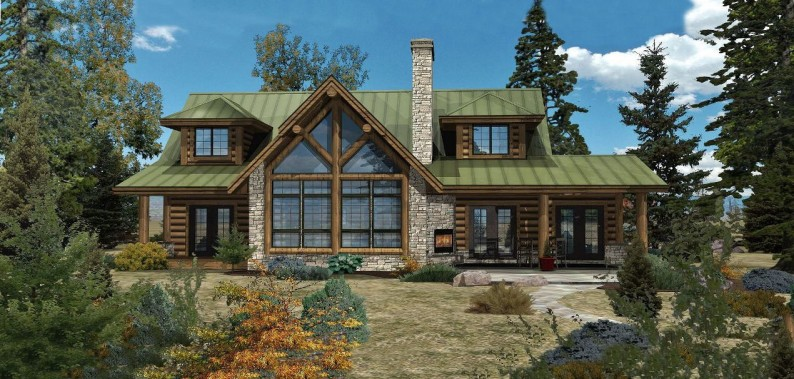 Small Log Cabin Homes Plans Log Home Floor Plans and Designs