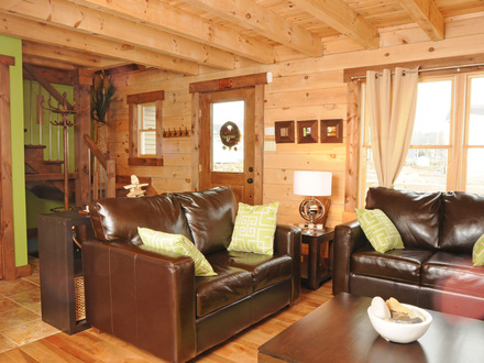 Small Log Cabin Homes Small Log Cabin Living Room