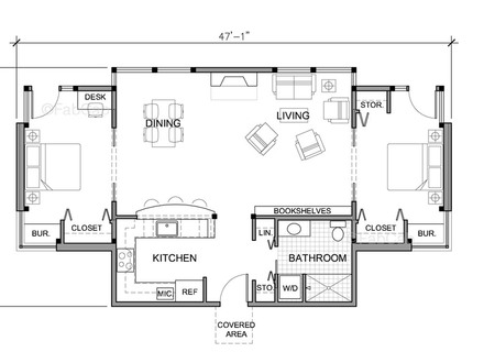 Small One Story House Floor Plans One Story House Simple Cute
