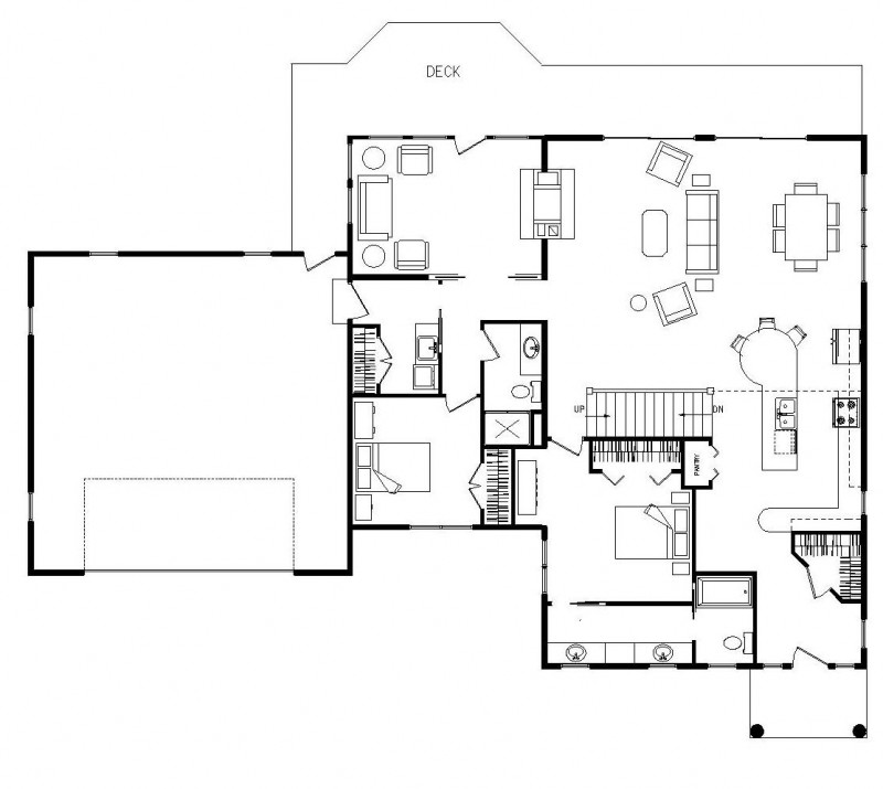 Open Kitchen And Living Room Floor Plans: Small Open Kitchen Living Room Open Concept Kitchen Floor