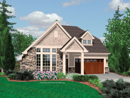 Single story craftsman bungalow house plans large single for Southern craftsman home plans