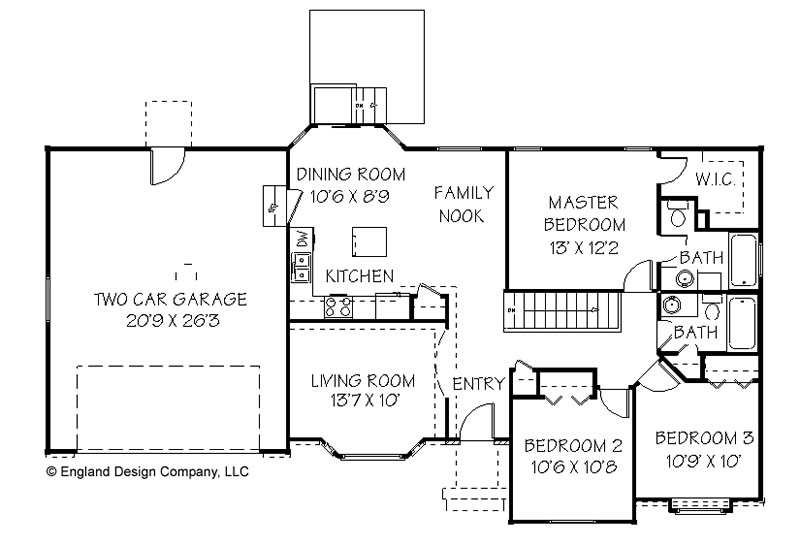 Texas Ranch House Plans Simple Ranch House Plan