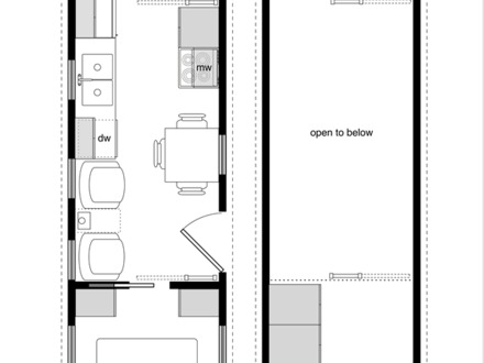 Tiny House Floor Plans 8 X 24 Inside Tiny House Interior Design