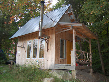 Polyhedron house polyhedron hut cool cabin designs for Small hut plans