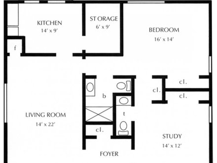 1 Bedroom Cottage Floor Plans Sweetheart One-Bedroom Cabin at Lake Wateree