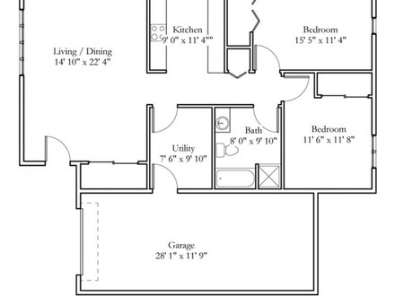 2 Bedroom Cottage Interior 2 Bedroom Cottage Floor Plans