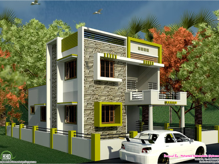 2 Bedroom House Indian South Indian Style House Plans