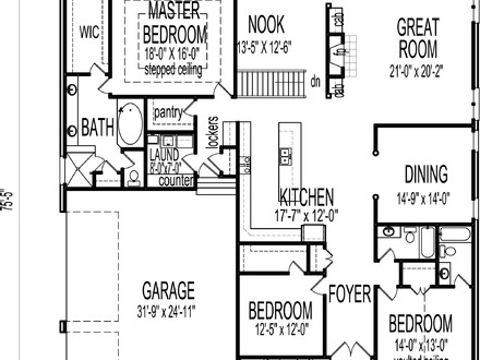 house plans as well one story small cottage floor plans in addition ALP   FH the grandview also house plans less than     square feet moreover abe e    cc   f  modern   bedroom house plan modern l shaped   bedroom house. on 1 story craftsman house plans