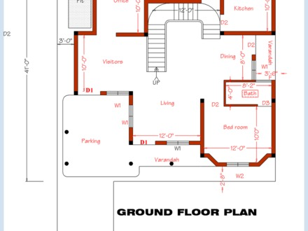 3 Bedroom House Floor Plan Design 3 Bedroom House with Pool