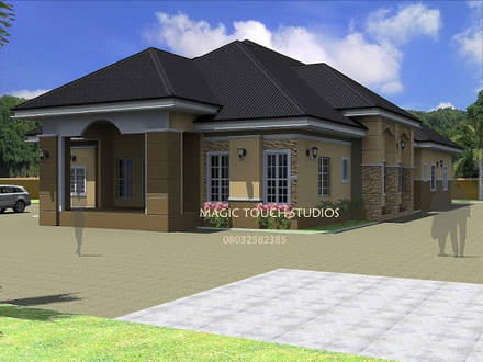 4 Bedroom Bungalow House 4-Bedroom Ranch House