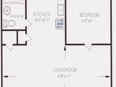 550 Square Foot Apartment Floor Plan 550 Sq FT Homes