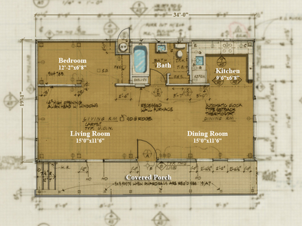 Small cabins tiny houses plans tiny house interior micro for 650 square foot house plans