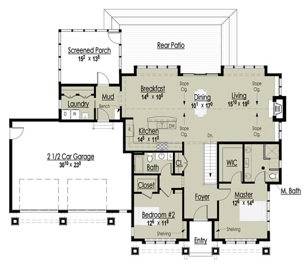 Award winning cottage floor plans award winning bungalow for Award winning ranch house plans