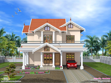 Beautiful Houses in Kerala Kerala House Front Elevation Design