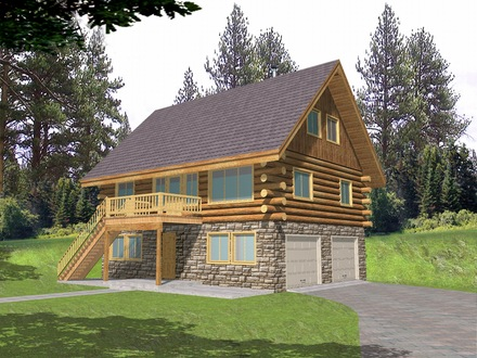 Big Log Cabins Log Cabin Home Floor Plans with Garage