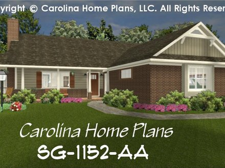 Brick Ranch Style House Plans Painted Brick Ranch House