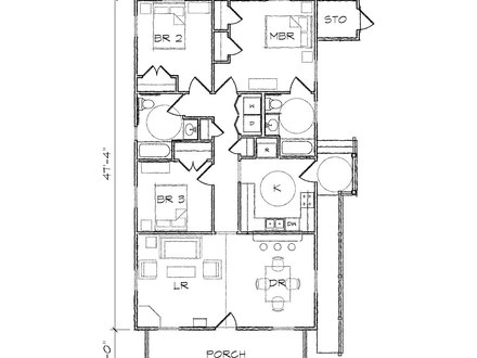 Bungalow Floor Plan 2 Bedroom Bungalow Plans