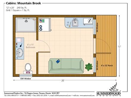 Cabin Floor Plans 12 X 14 1 Bedroom Cabin Floor Plans