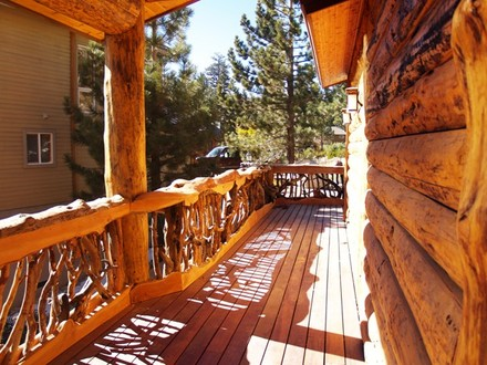 Cabin Porch Railing Log Cabin Deck Railing