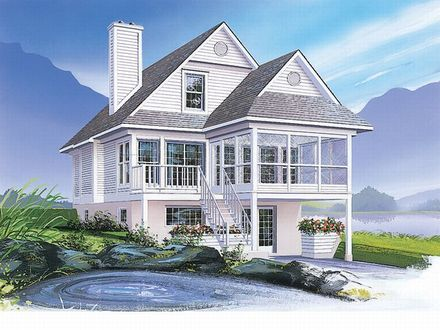 Coastal House Plans Narrow Lots Narrow Lot Plans