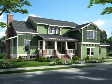 Craftsman Bungalow Style Interiors Traditional Craftsman Bungalow Cottage House Plan