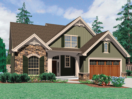 Craftsman House Plans with Front Garage Best Craftsman House Plans