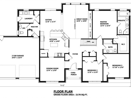 Custom Homes Floor Plans House Design 4 Bedroom Home Floor Plans