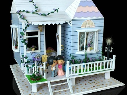 Dollhouse Miniature Kit Beach House Dollhouse Miniature DIY Kit