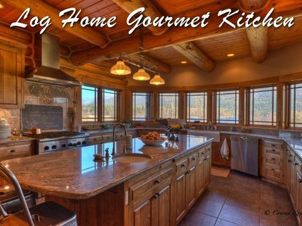 Expensive Log Homes Luxury Log Home Kitchen
