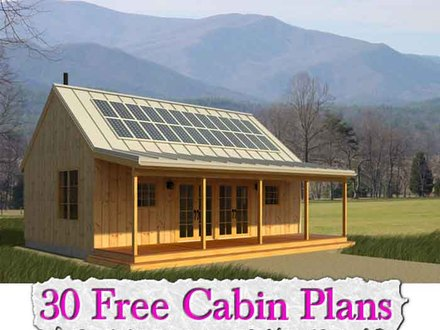 Free&Easy Cabin Plans 30 Free Cabin Plans