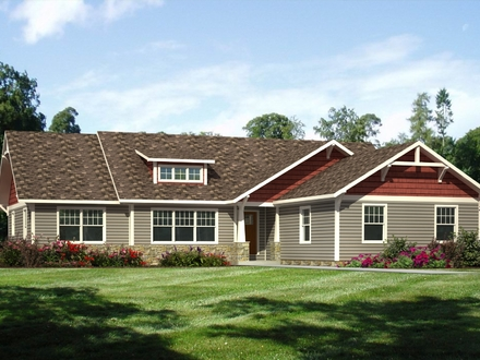 Craftsman style cottage house plans cottage style homes - Best color to paint exterior house for sale ...
